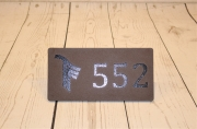 In-ground Yardage Plate -Trinity Forest