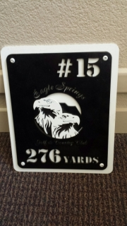 Yardage Plate -Eagle Springs