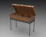 Custom Ammenities Chest - Open on Stand