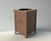 Garbage Cans for Golf Courses
