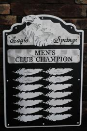 Golf Perpetual Plaque -Eagle Springs