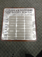 Perpetual Golf Plaque- Silverstone