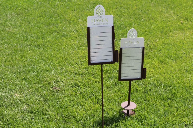 Custom Golf Contest Markers -The Haven Country Club