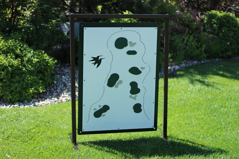 Range Layout Sign -Castle Pines
