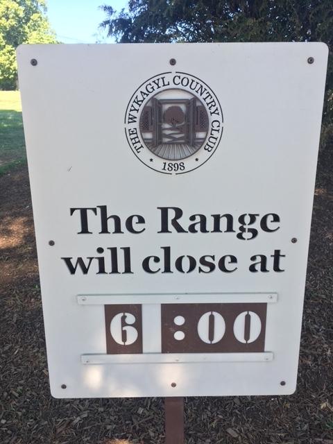 Range Sign Wykagel