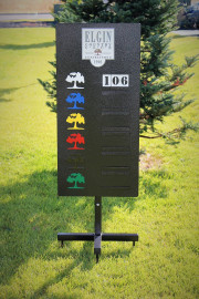 Driving Range Yardage Sign -Elgin CC