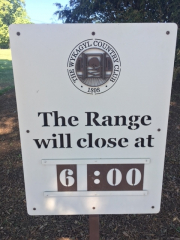 Range Sign Wykagel