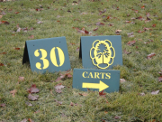 A-Frame Yardage Signs -Meteconk National