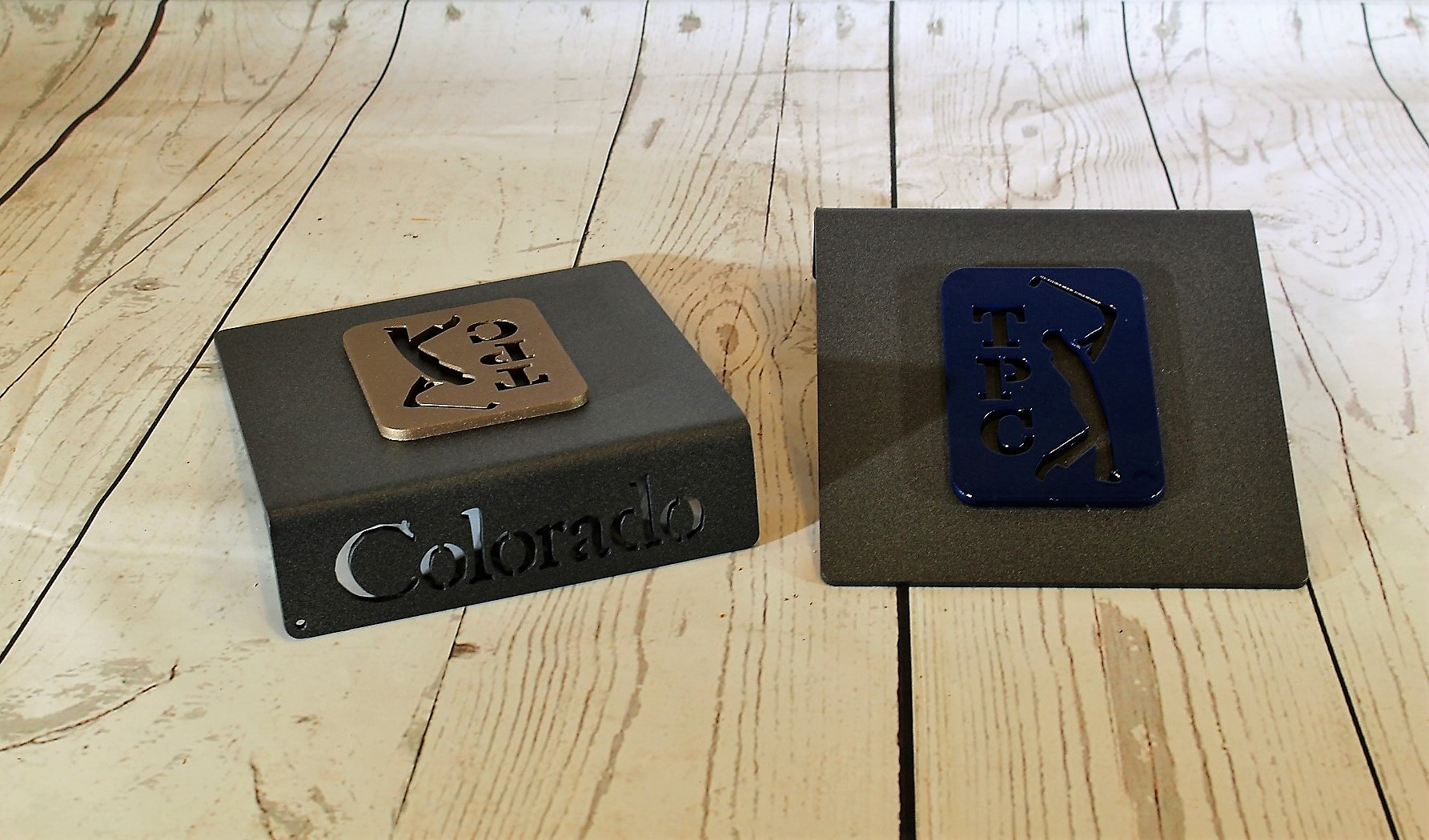 Tee Markers GOLD BLUE --TPC COLORADO