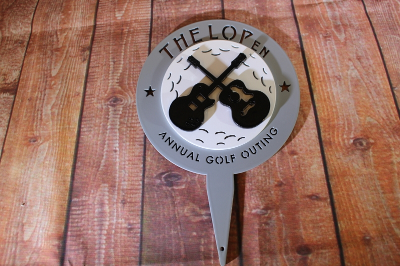 The L Open Tee Markers -Lake Forest CC