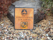 Hole Location Sign -Visalia