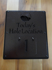 Pin Location Sign