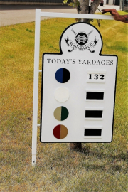 Yardage Sign -Glen Head CC