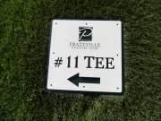 Custom Tee SignGolf Course Driectional SIgnange -Prattville