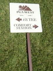 Golf Course Signage -PGA West