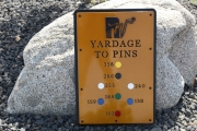 Yardage to the PIns Signs -Rockwind