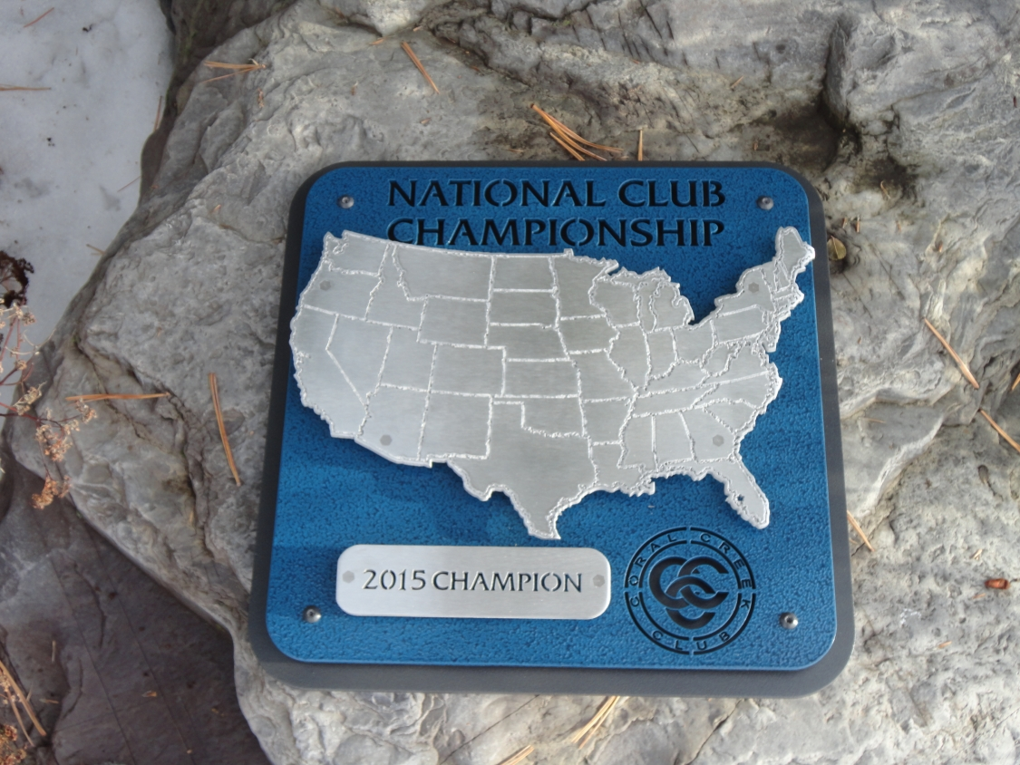 Club Championship Award Plaque -Coral Creek