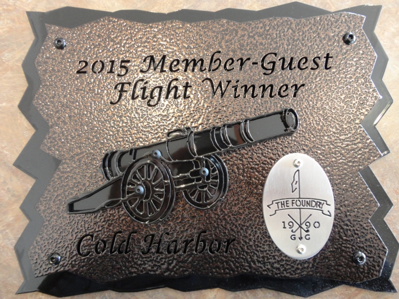 Member-Guest Plaque -Foundry