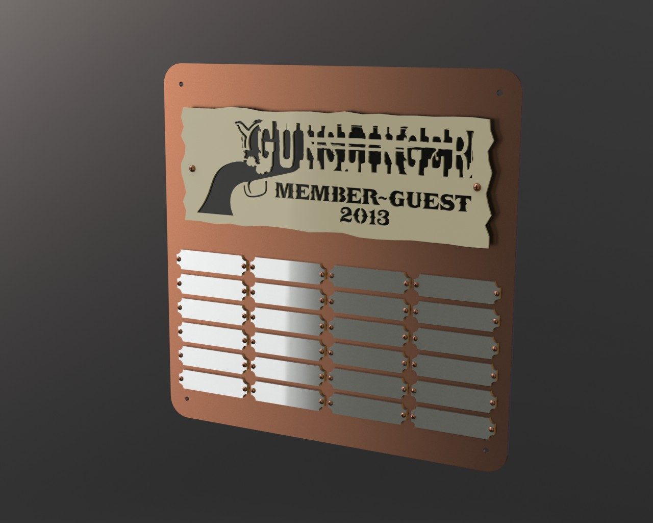 Gallery Gunslinger Plaque