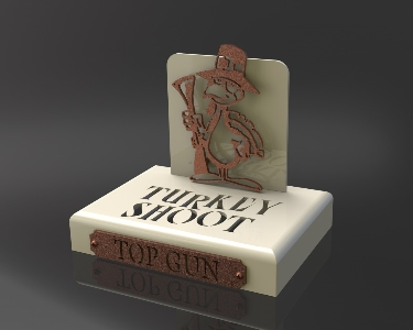 Custom Golf Turkey Shootout Trophy