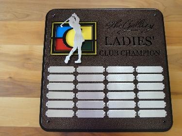 THE GALLERY -Custom Golf Perpetual Plaque