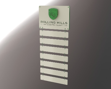 ROLLING HILLS -Custom Golf Perpetual Plaque