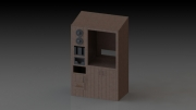 Small Beverage Station Teak Version 1.1