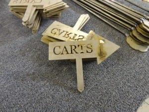 Southern Dunes Cart Sign