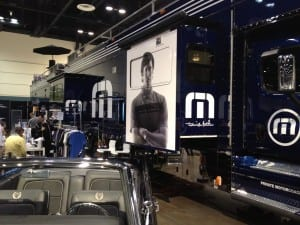 The Travis Mathew booth at the PGA Show