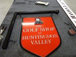Hanging Golf Shop sign for Huntingdon Valley