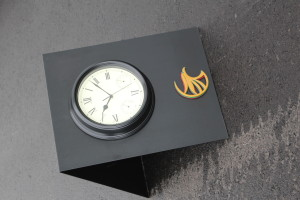 A-Frame Clock Signs for Golf Courses -Turning Stone