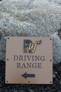 Golf Course Driving Range Signs -Rockwind