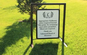 Golf Course Informational Signs LAKEWOOD