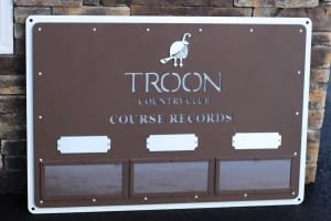 Golf Course Record Sign -Troon CC
