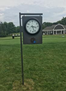 Green Brook Clock Sign
