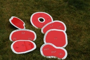 In-Ground Yardage Plates -Blue Jack National (2)