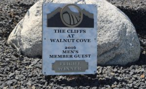Men's Club Championship Plaques -Walnut Cove