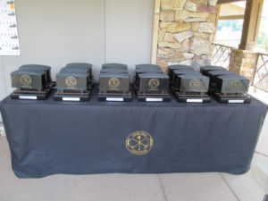 Pete Dye Coal Cart Prize Table