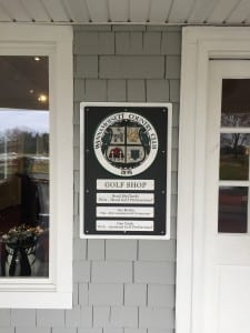 wanny custom golf course sign